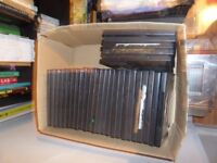 29 single blank dvd cases