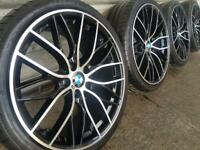 """4x BMW 3 4 5 6 7 Series 20"""" 405 M Performance style Alloy Wheels & Tyres F30 10 11"""