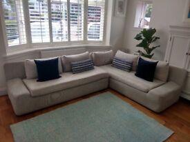 Habitat Kasha Light Grey Right-Arm 4 Seater Corner Sofa