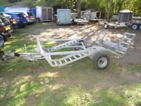 7-4 X 5-4 GALVANISED STEEL (BRAKED) VEHICLE TRANSPORTER TRAILER.......