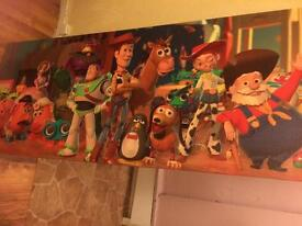 Large toy story wall canvas