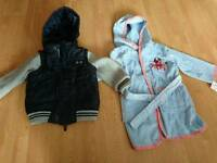 Size 3+4 boys jacket and dressing gown
