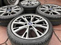 "Genuine 17"" Ford Fiesta Zetec S Black Edition Facelift ST RS Alloy wheel & tyres - 4x108"