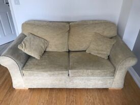 Sofa Bed - Good Condition - complete with matching cushions