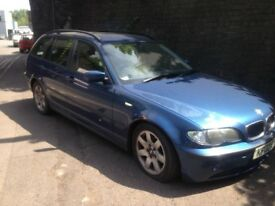 BMW 318i estate 2002 2.0 petrol blue 5dr - Breaking Spares