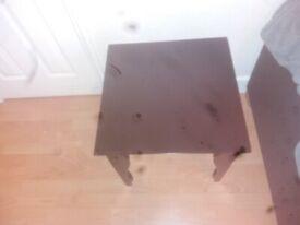 Unique black wooden table.