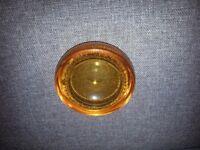 Murano bubble orange glass ashtray