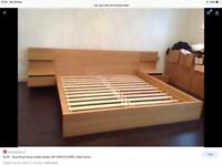 King Size Ikea Malm Bed & Memory Foam Mattress