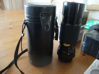 Camera accessories- Pentax K mount Miranda +Sigma lenses+2 filters and Miranda flash+camera case