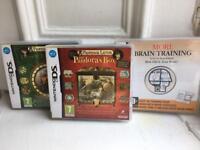 Nintendo DS games. Professor Layton & Brain Training