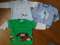 3 x Baby boys tops 6-9 months