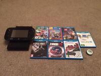 Nintendo Wii U with 7 top games