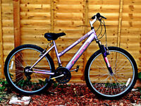 Ladies FRONT SUSPENSION Mountain bike nice tidy bike rides well fully tested