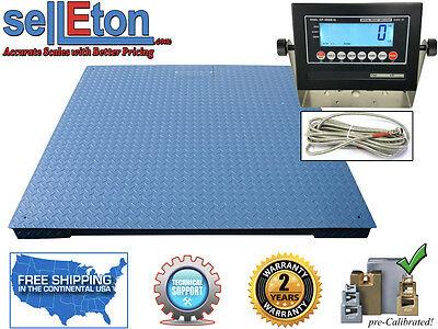 Heavy Duty Industrial Floor Scale 6 X 6 72 10000 Lbs X 1 Lb
