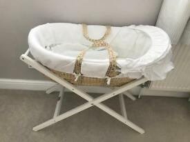 Brand new never used Mamas & Papas Moses basket & stand