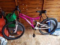 Muddyfox pheonix dual suspension girls bike
