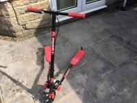 Red and black flicker scooter