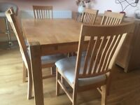 Solid Extendable Oak Dining Table