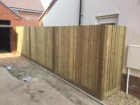 South garden fencing