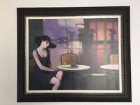 Lady in a Cafe Artwork