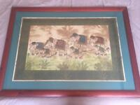 Elephant picture in frame