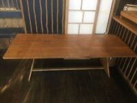 2x Solid Oak Dinning or Garden Table 200 x 89cm