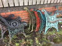 Heavy Cast Iron Garden Bench Ends