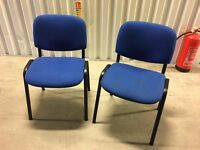 2 office chairs in blue colour