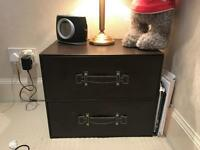 Brown leather chest drawers