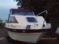 WESTON 18FT MOTOR CRUISER / FISHING BOAT + MERCURY 15HP 4 STROKE E/START OUTBOARD