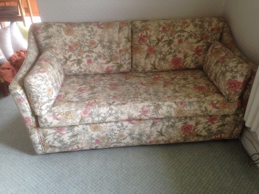 Two Seater Sofa Converts To Small Double Bed