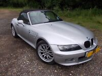 BMW Z3 2002 2.2 Petrol SPORT ROADSTER SILVER 53K Miles Damage CAT C