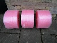 3 rolls of Fragile Bubble Wrap plus 2 rolls of brown tape £12 for all 3