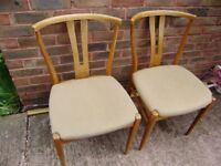 Chairs ; Two upholstered chairs