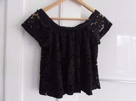 Black Off-Shoulder Top for Sale