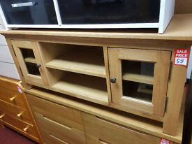 knightsbridge large tv unit oak