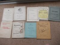 Nine vintage music books good condition