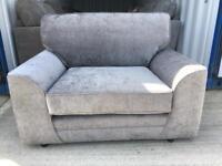Grey fabric snug chair (New ex display)