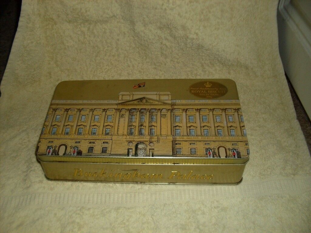 BUCKINGHAM PALACE Rectangular Storage Collectable Biscuit Tin (Empty)