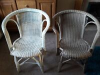 Vintage wicker and cane chairs