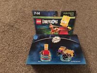 Lego Dimensions Bart Simpson add on pack still boxed. Xbox, Wiiu PS4 etc