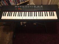 Electronic keyboard with piano keys