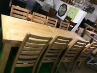 11ft table £750 chairs £80 each