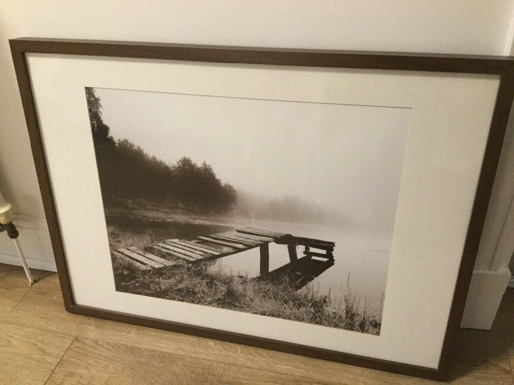 Ikea Ribba dark brown frame with print   in Southside, Glasgow   Gumtree