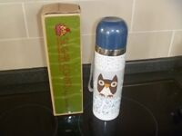Cute Stainless Steel 0.5L Flask by 'Disaster Designs' Owls