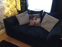 Black soft cord effect beautiful sofa