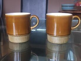 2 Poole Pottery Tea Cups
