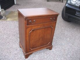 ANTIQUE SOLID WOODEN CABINET WITH DRAWER AND CUPBOARD WITH SHELVES