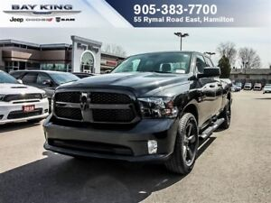 2018 Ram 1500 BLACK EXPRESS QUAD CAB 4X4, TINTED, BLUETOOTH, A/C