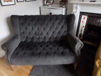 Grey velvet sofa - James and Alexander